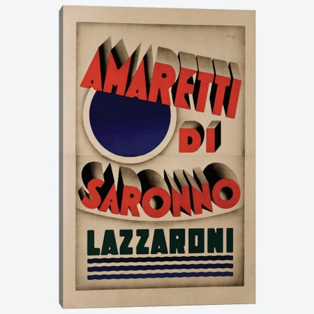 Amaretti di Saronno, Lazzaroni Canvas Print #VAC1321} by Vintage Apple Collection Canvas Art