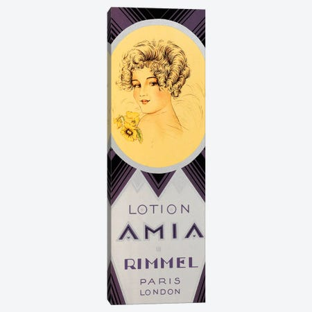 Amia Lotion Paris London Canvas Print #VAC1323} by Vintage Apple Collection Canvas Artwork