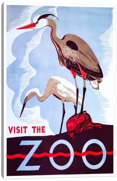 visit the zoo Canvas Art Print
