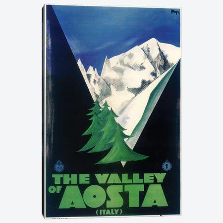 Aosta Italia 3-Piece Canvas #VAC1331} by Vintage Apple Collection Canvas Print