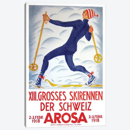 Arosa, 1918 Canvas Print #VAC1334} by Vintage Apple Collection Canvas Artwork