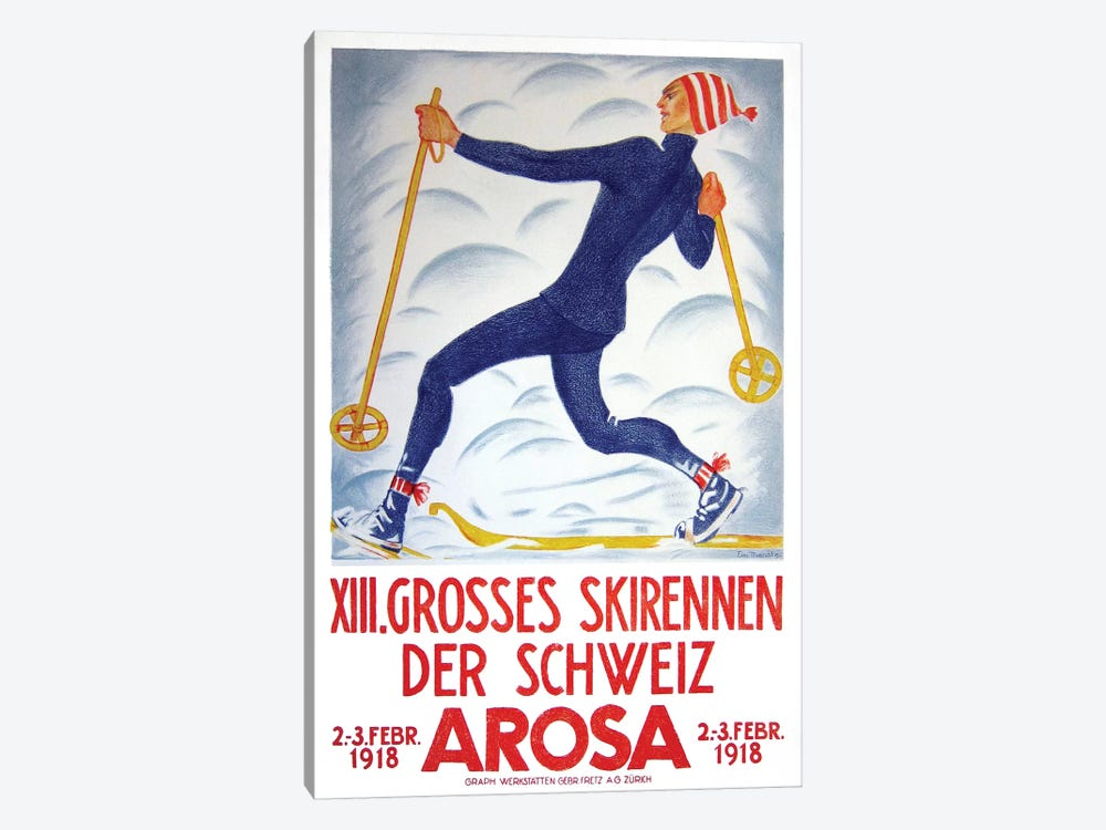Arosa, 1918 by Vintage Apple Collection 1-piece Canvas Print