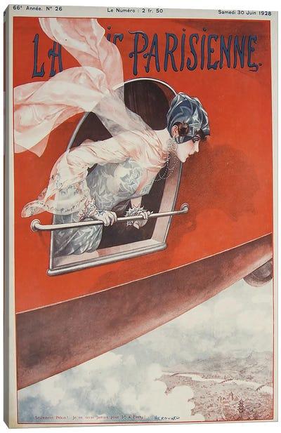 Art Deco Airplane La Vie Parisienne, 1928 Canvas Art Print