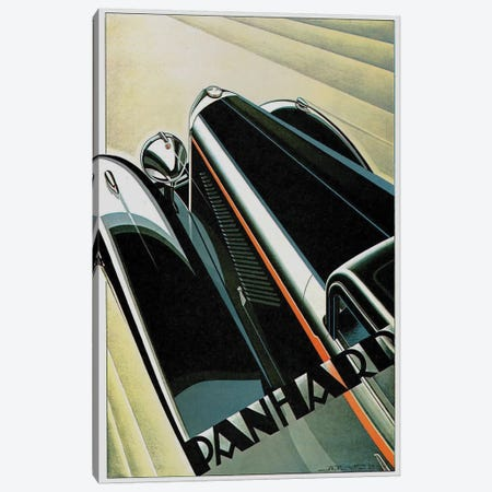Art Deco Auto Canvas Print #VAC1337} by Vintage Apple Collection Canvas Art