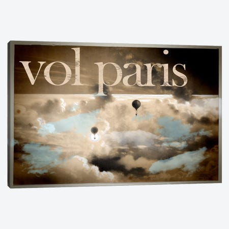 Vol Paris Canvas Print #VAC133} by Vintage Apple Collection Art Print
