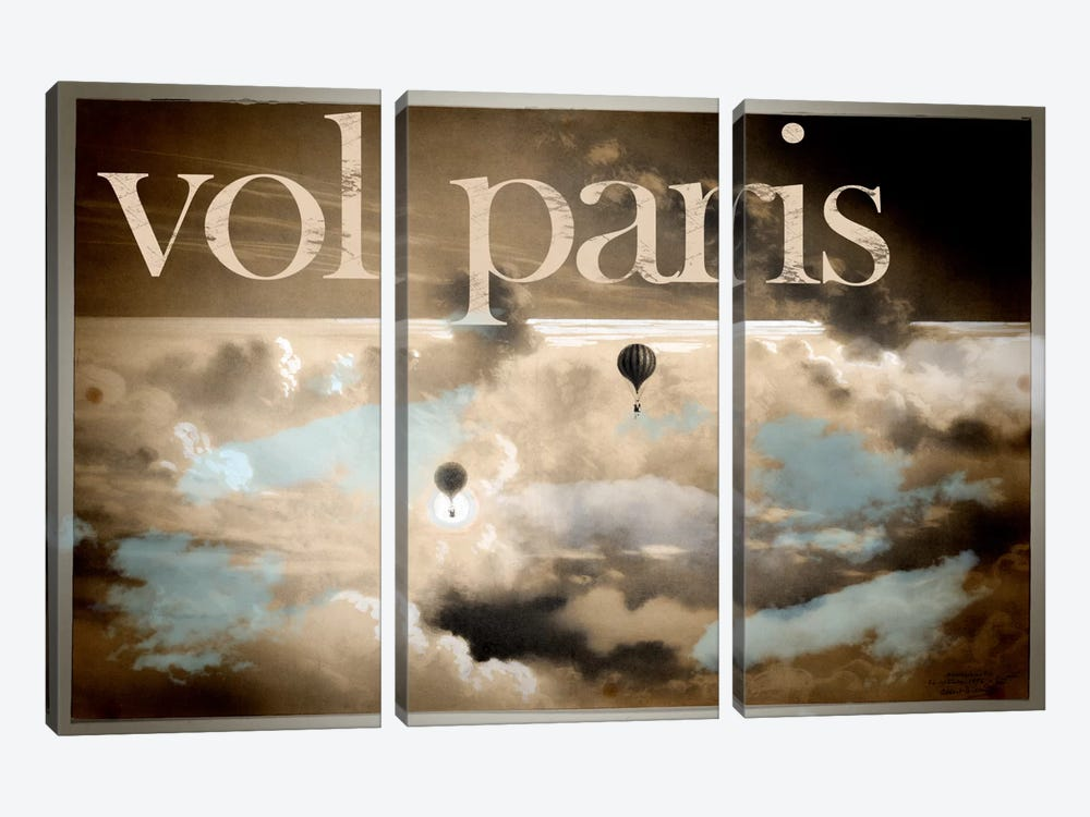 Vol Paris by Vintage Apple Collection 3-piece Canvas Art Print