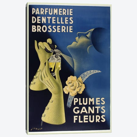 Art Deco Gants Parfumerie Canvas Print #VAC1341} by Vintage Apple Collection Canvas Art