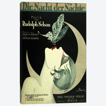 Art Deco German Music Canvas Print #VAC1342} by Vintage Apple Collection Canvas Artwork