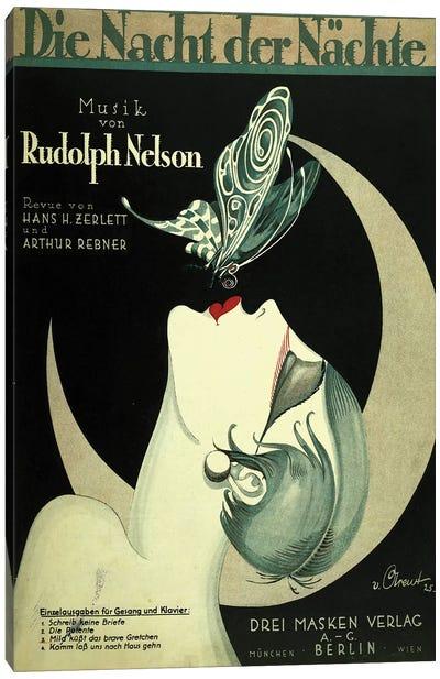 Art Deco German Music Canvas Art Print