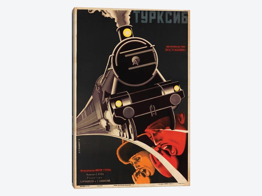 Art Deco Railroad Russia, 1929 by Vintage Apple Collection 1-piece Canvas Artwork