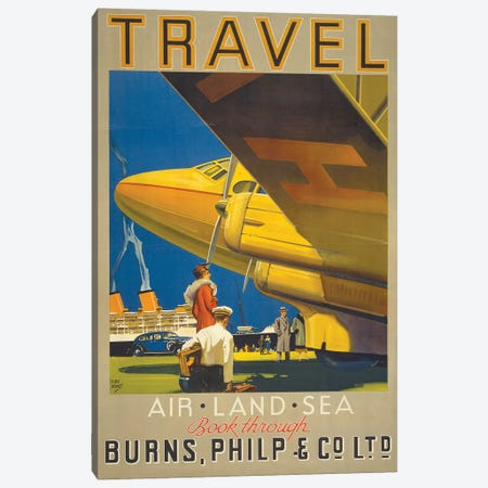 Art Travel Canvas Print #VAC1349} by Vintage Apple Collection Canvas Artwork