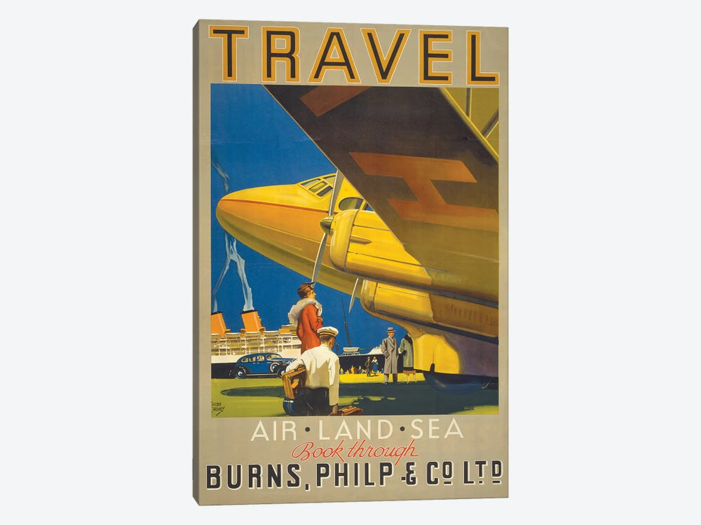 Art Travel by Vintage Apple Collection 1-piece Canvas Print