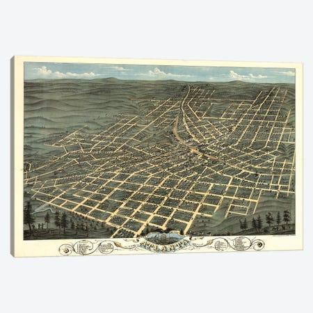 Atlanta Map, 1871 Canvas Print #VAC1350} by Vintage Apple Collection Art Print