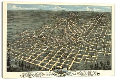 Atlanta Map, 1871 Canvas Art Print