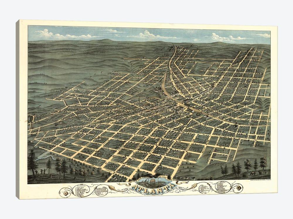 Atlanta Map, 1871 by Vintage Apple Collection 1-piece Art Print