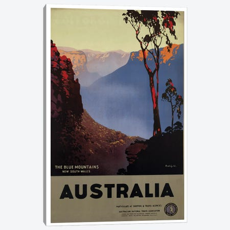 Australia Blue Mountains Canvas Print #VAC1352} by Vintage Apple Collection Art Print