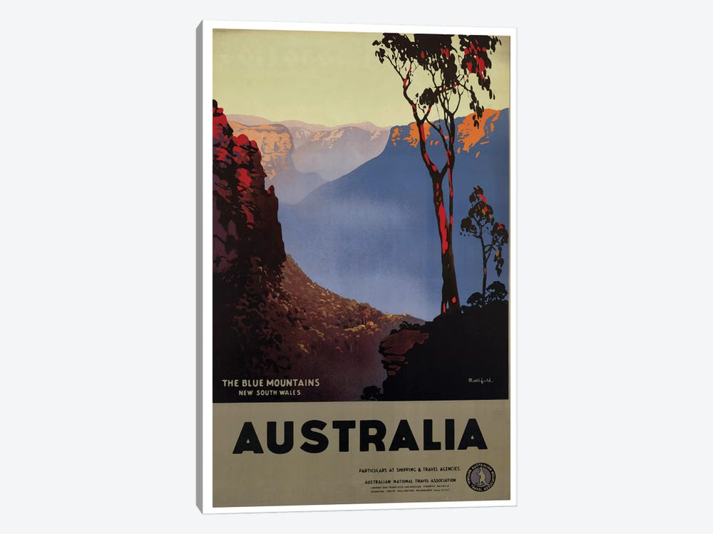 Australia Blue Mountains by Vintage Apple Collection 1-piece Canvas Art Print