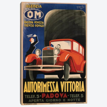 Autorimessa Vittoria, 1930 Canvas Print #VAC1355} by Vintage Apple Collection Canvas Wall Art