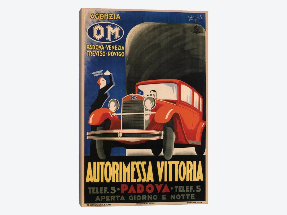 Autorimessa Vittoria, 1930 by Vintage Apple Collection 1-piece Canvas Wall Art