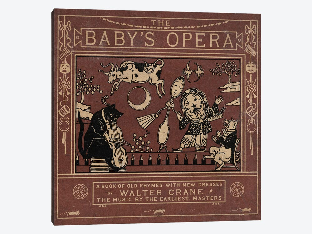 Baby's Opera by Vintage Apple Collection 1-piece Canvas Artwork