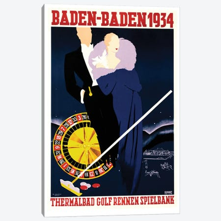 Baden-Baden 1934 Canvas Print #VAC1361} by Vintage Apple Collection Canvas Art