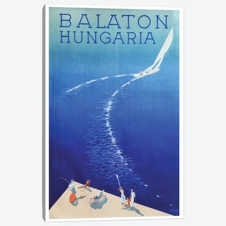 Balaton, Hungaria Canvas Print #VAC1363} by Vintage Apple Collection Canvas Art