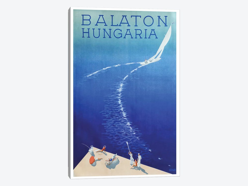 Balaton, Hungaria by Vintage Apple Collection 1-piece Canvas Art Print