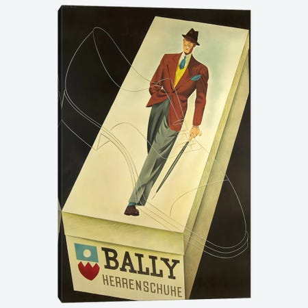 Bally Men's Shoe Box Canvas Print #VAC1365} by Vintage Apple Collection Canvas Print