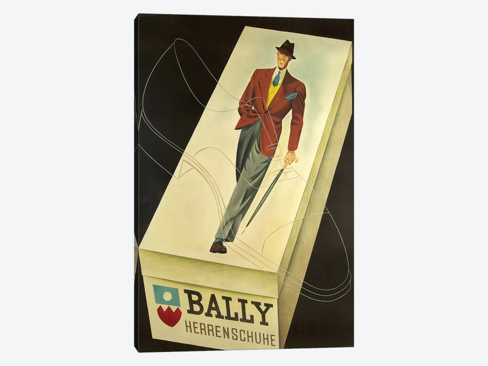 Bally Fashion Model red yellow Art Print painting Poster For Glass Frame 36/""