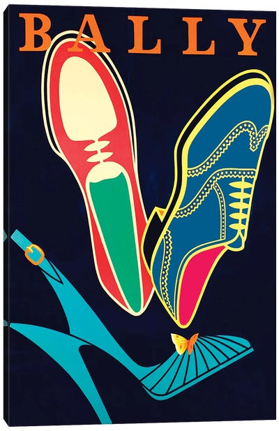Bally Shoes Canvas Art Print