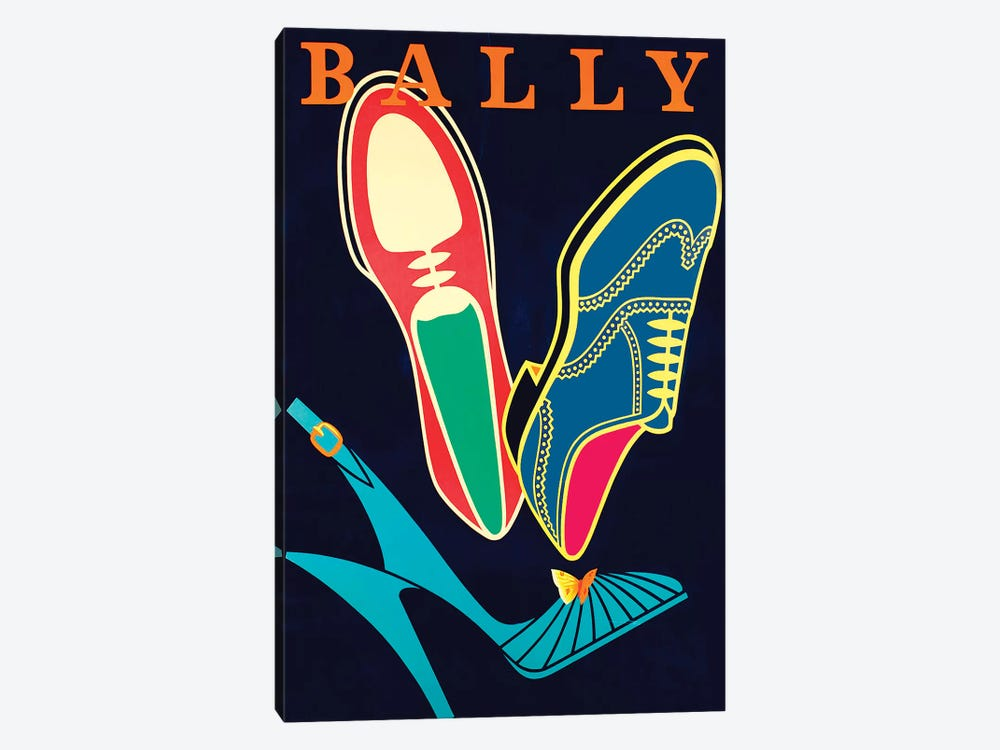 Bally Shoes by Vintage Apple Collection 1-piece Canvas Art