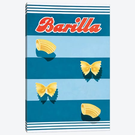Barilla Pasta Vintage 3-Piece Canvas #VAC1372} by Vintage Apple Collection Canvas Print