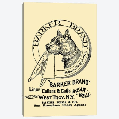 Barker Brand Linen Cuffs, San Francisco Canvas Print #VAC1373} by Vintage Apple Collection Art Print