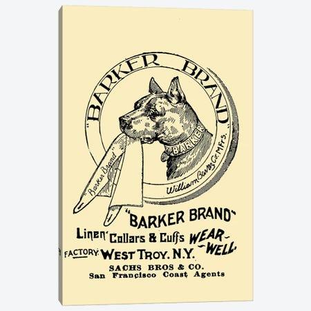Barker Brand Linen Cuffs, San Francisco Canvas Print #VAC1373} by Vintage Apple Collection Art Print