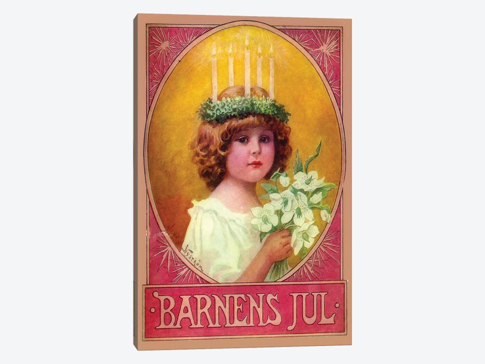 Barnens Jul by Vintage Apple Collection 1-piece Canvas Artwork