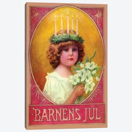 Barnens Jul Canvas Print #VAC1375} by Vintage Apple Collection Canvas Wall Art