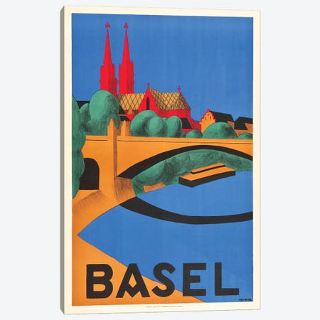 Basel Canvas Print #VAC1377} by Vintage Apple Collection Canvas Art