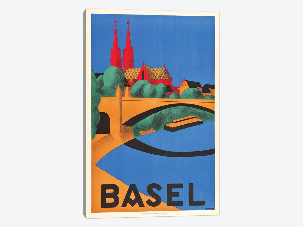 Basel by Vintage Apple Collection 1-piece Canvas Art