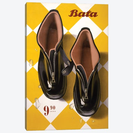 Bata Rubbers Canvas Print #VAC1380} by Vintage Apple Collection Canvas Wall Art