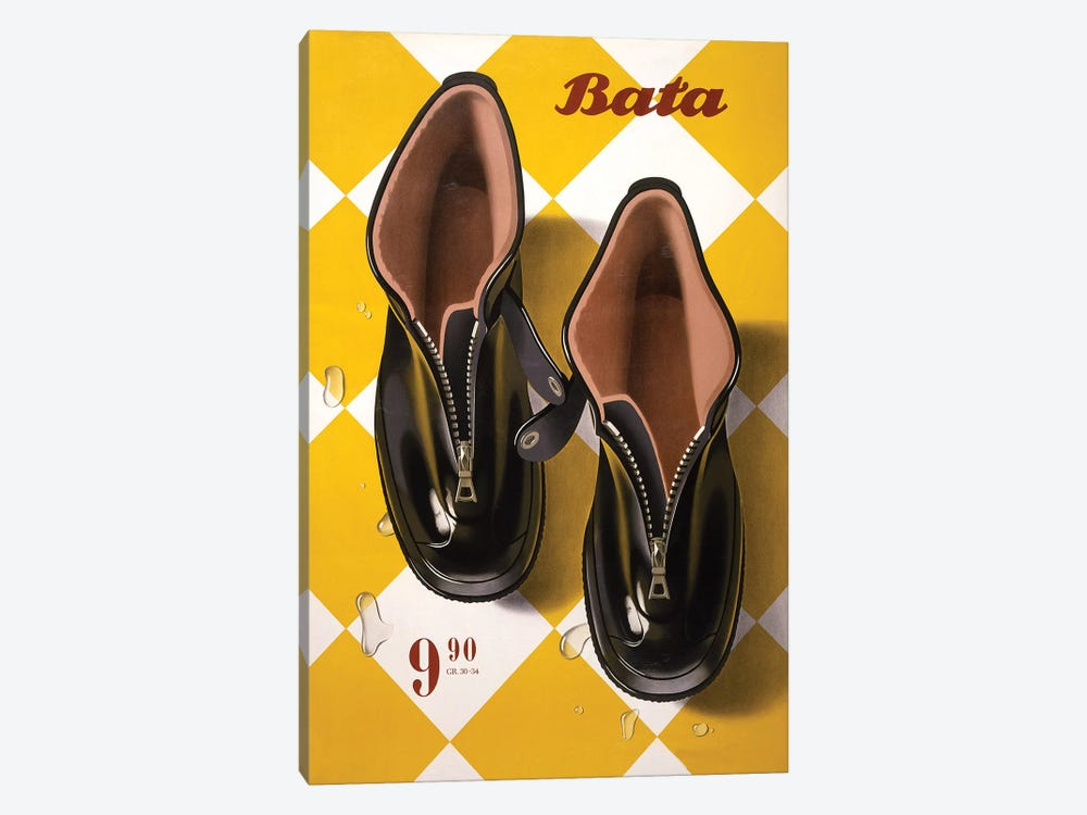 Bata Rubbers by Vintage Apple Collection 1-piece Canvas Art
