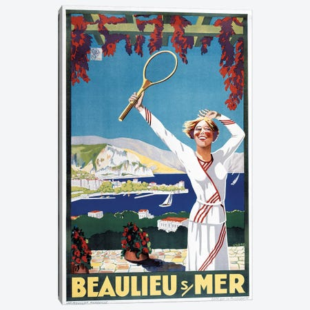 Beaulieu Mer Canvas Print #VAC1383} by Vintage Apple Collection Canvas Wall Art