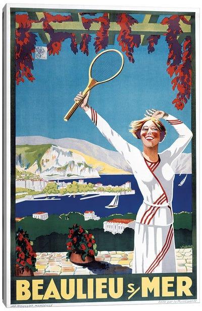 Beaulieu Mer Canvas Art Print