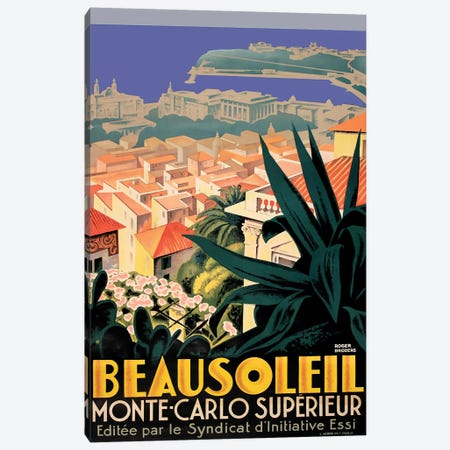 Beausoleil, Monte-Carlo Canvas Print #VAC1384} by Vintage Apple Collection Canvas Print