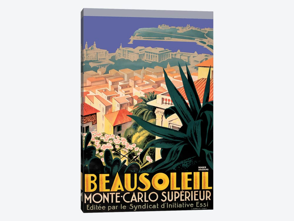 Beausoleil, Monte-Carlo by Vintage Apple Collection 1-piece Canvas Artwork