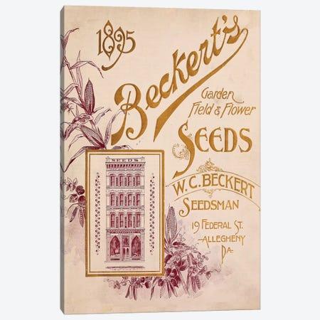 Beckert's Garden Field & Flower Seeds, 1895 Canvas Print #VAC1386} by Vintage Apple Collection Art Print