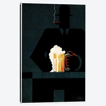 Beer In The Middle Of The Night Canvas Print #VAC1387} by Vintage Apple Collection Canvas Print