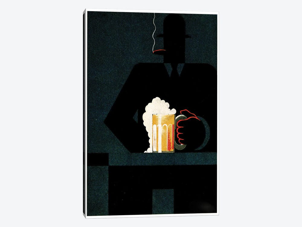 Beer In The Middle Of The Night by Vintage Apple Collection 1-piece Canvas Print