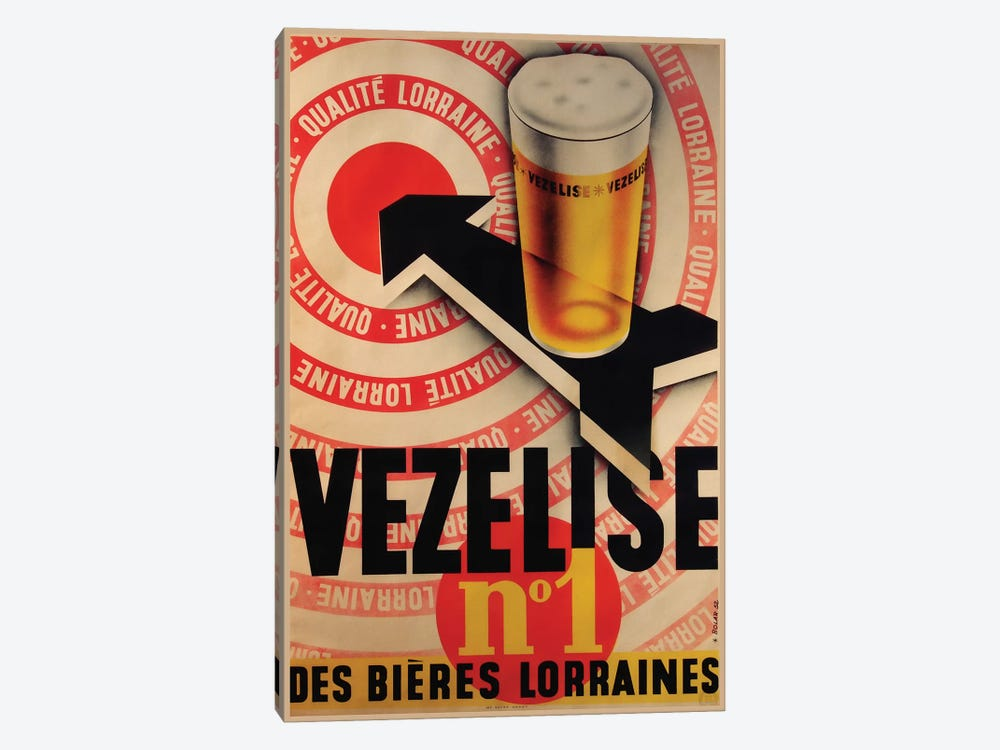 Beer Vezelise by Vintage Apple Collection 1-piece Canvas Print