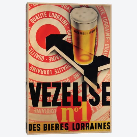 Beer Vezelise 3-Piece Canvas #VAC1389} by Vintage Apple Collection Canvas Artwork