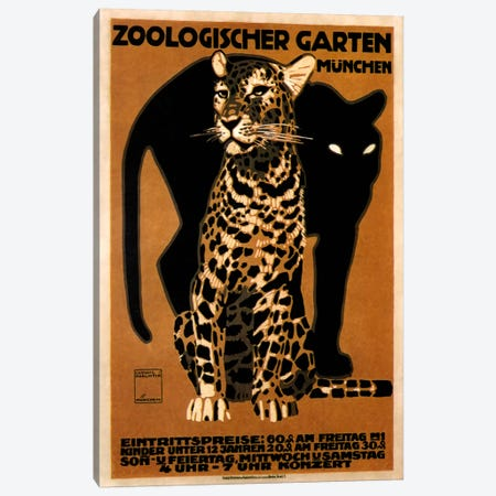 zoo big cats 3-Piece Canvas #VAC138} by Vintage Apple Collection Canvas Print